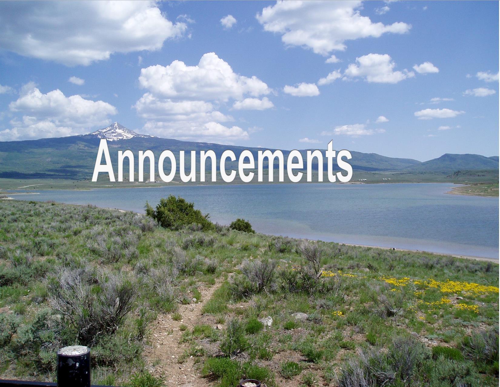This is Miramonte Reservoir, DWM Mark Caddy, Division of Wildlife, 9/8/2003