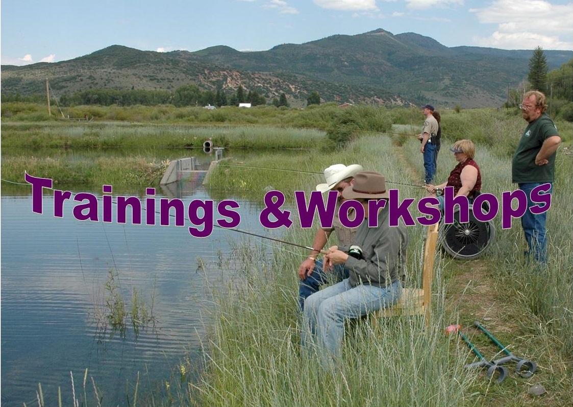A Northwest region women's cast and blast event. Division of Wildlife. Randy Hampton, Colorado Parks and Wildlife.