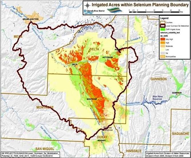 Primary Selenium Source Gunnison - Photo Credit Selenium Management Program