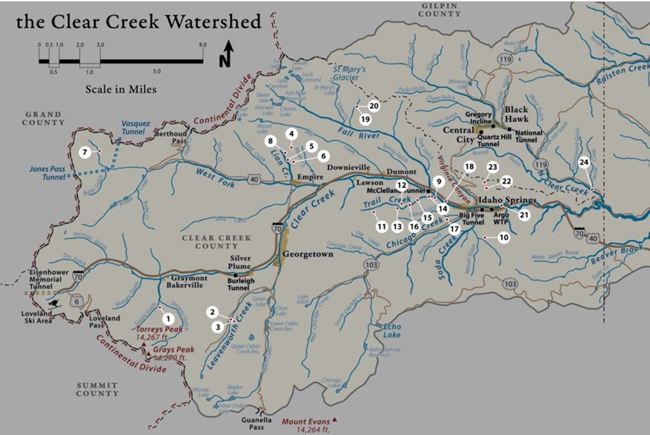 Clear Creek Watershed Foundation Project Portfolio Map 2004 - 2019
