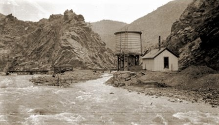 Water Tower at the confluence of Clear Creek and a tributary near Idaho Springs, C. 1890-1920