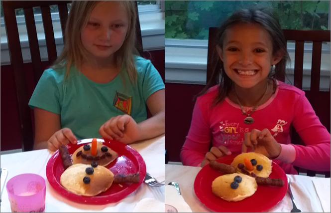 Frozen/Olaf birthday pancakes