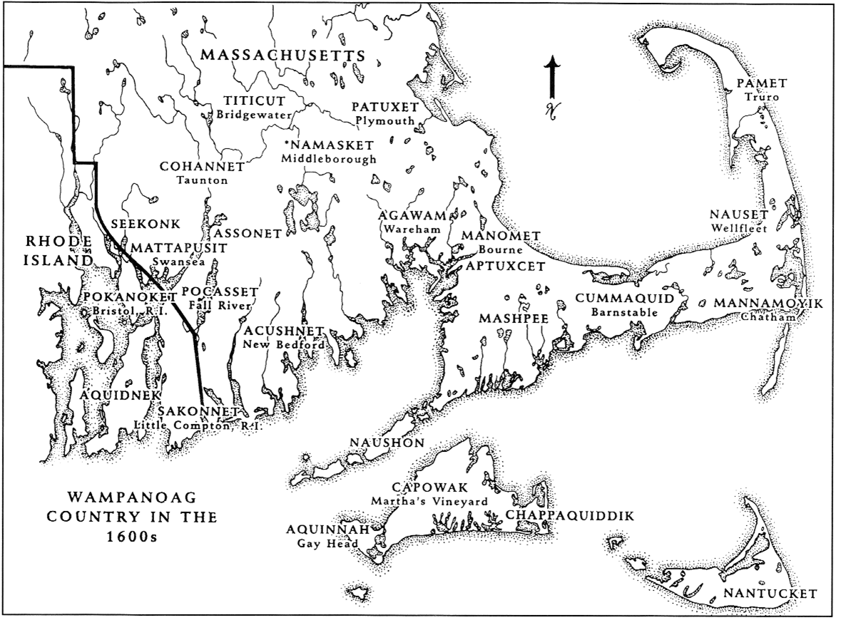 Wampanoag names are shown in ALL CAPS.   (Source: Plimoth Plantation/www.plimoth.org)