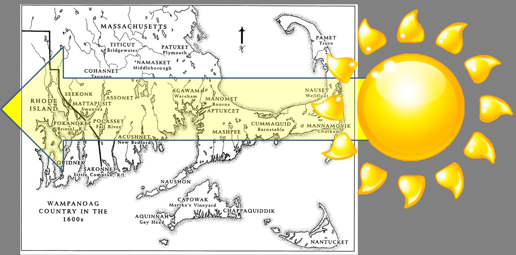 Wampanoag names are shown inALL CAPS.  (Source: Plimoth Plantation/www.plimoth.org)