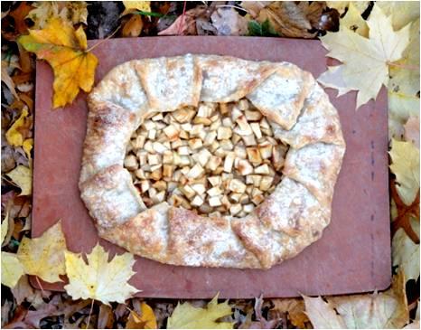 Happy Apple Tart  made in the Adventure Kitchen, October 2014.