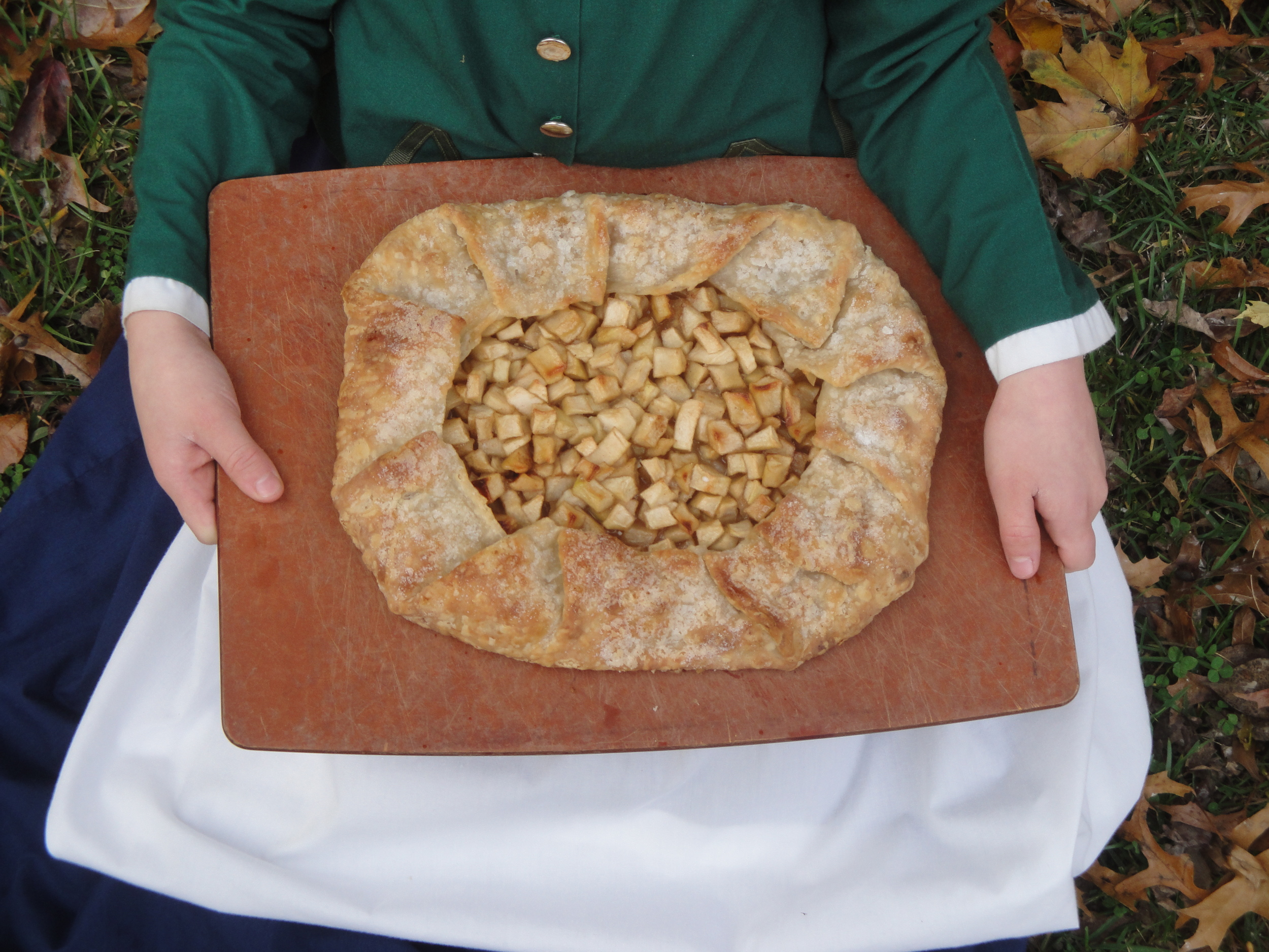 """""""Remember"""" holding our Happy Apple Tart, made withAdventure Kitchen    Pâte Brisée , October 2014."""