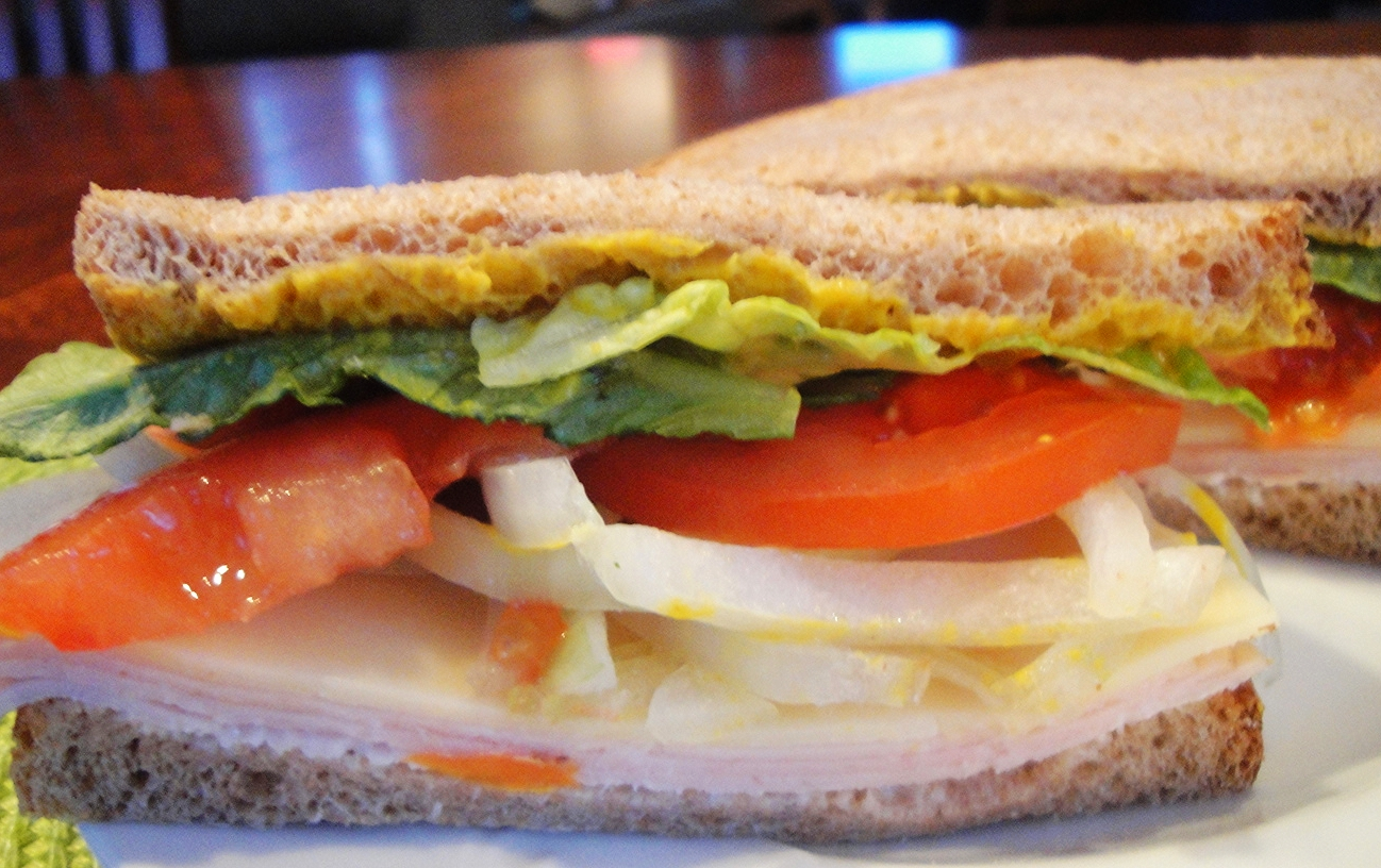 The Classic Turkey Sandwich, with provolone cheese
