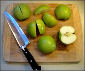 cutting apples 1