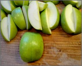 cutting apples 3
