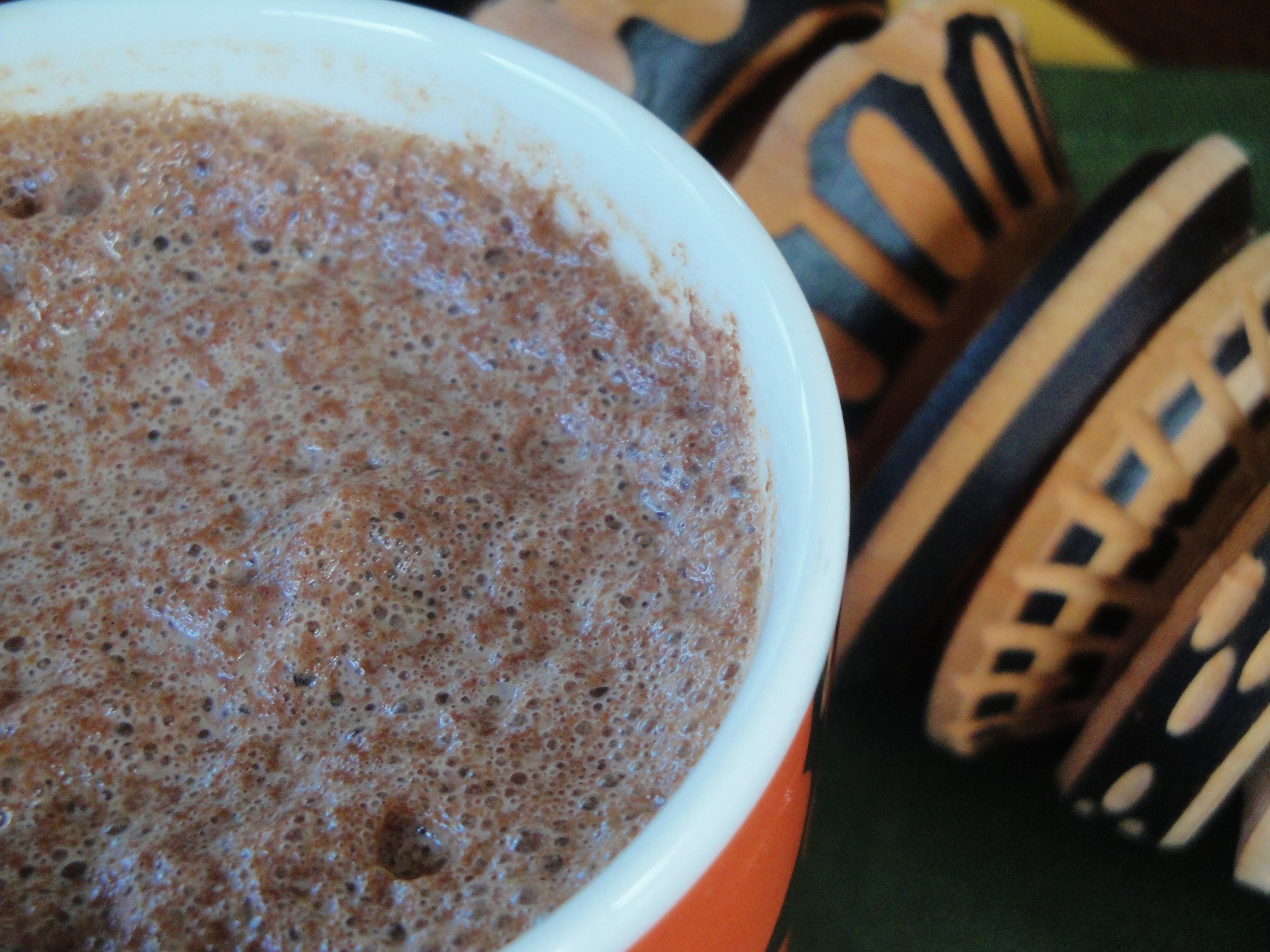 Homemade Mexican Hot Chocolate , made in the Adventure Kitchen in April 2015.