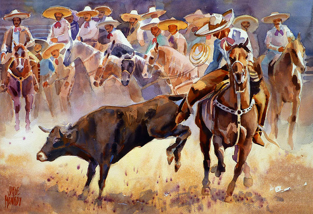 Watercolor by Mexican artist Jorge Monroy
