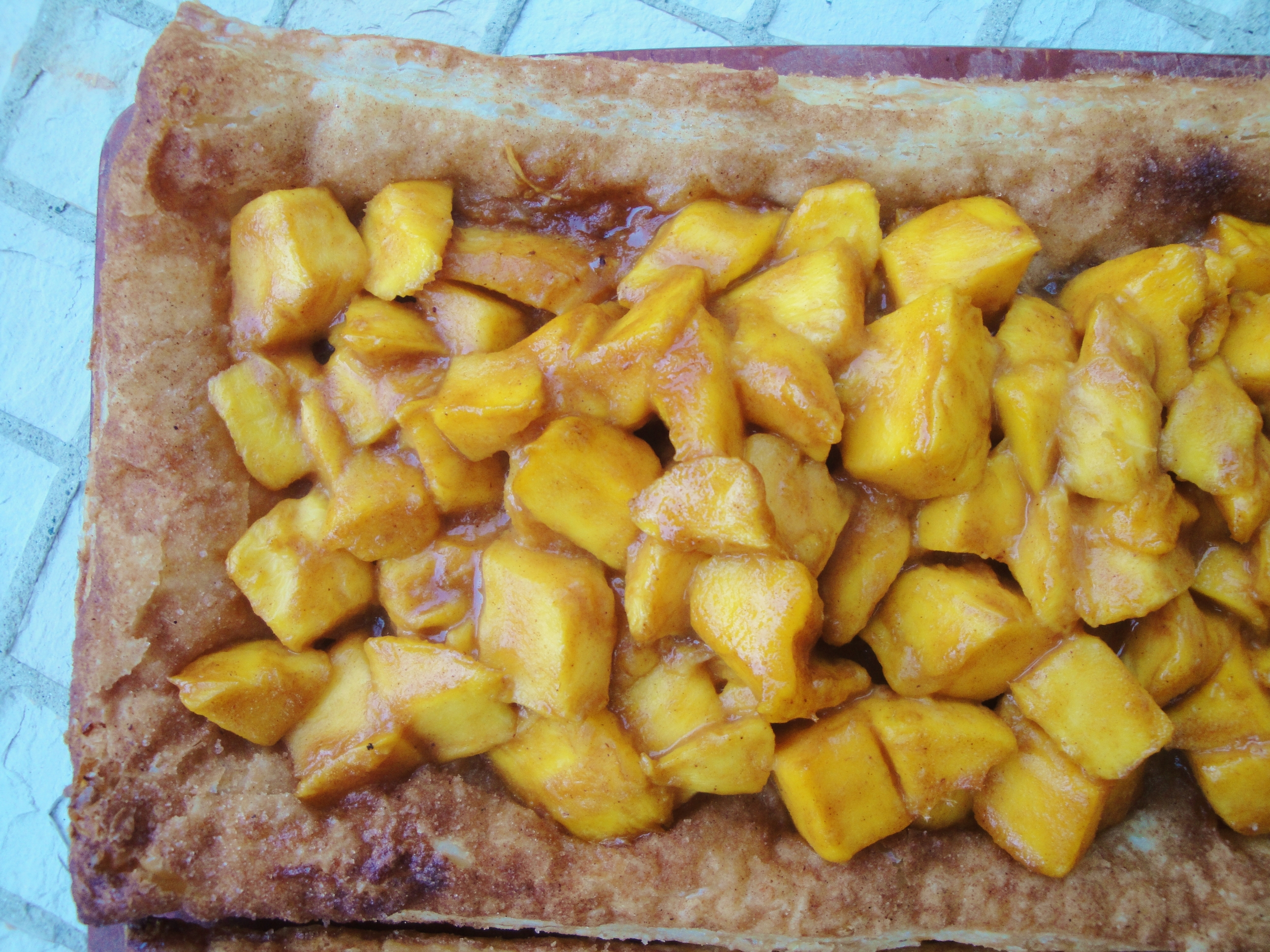Mucho Mango Tart  made in the Adventure Kitchen, June 2015