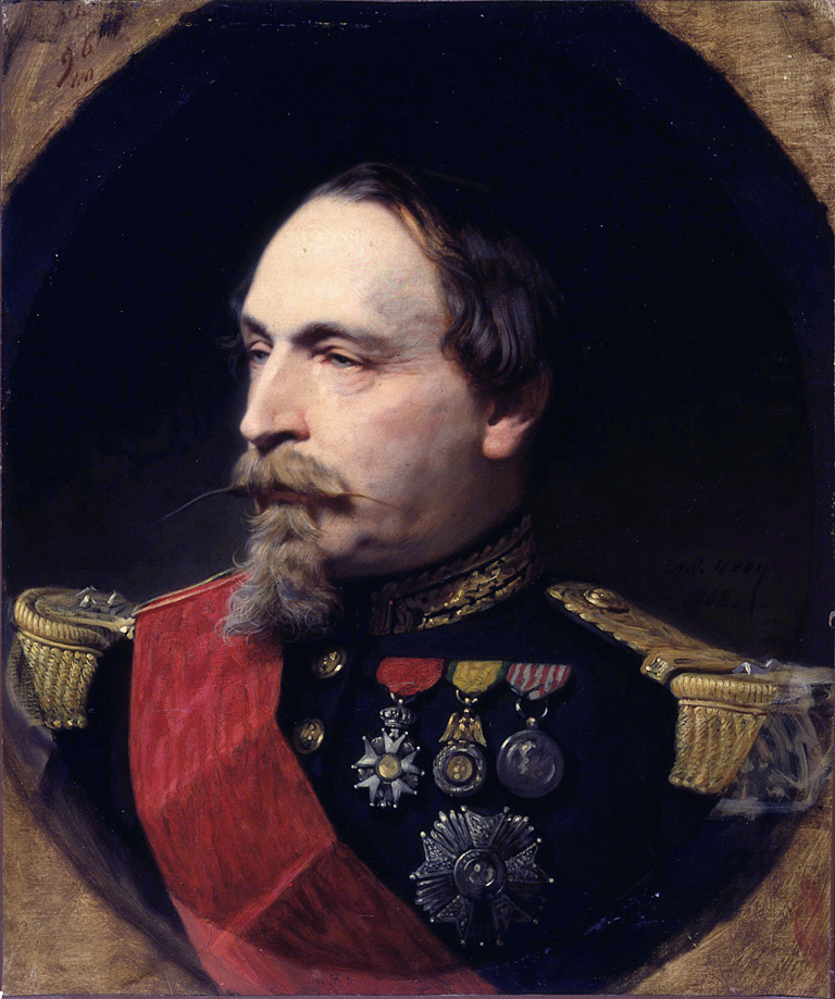 Portrait of Napoleon III in 1868, painted by Adolphe Yvon.