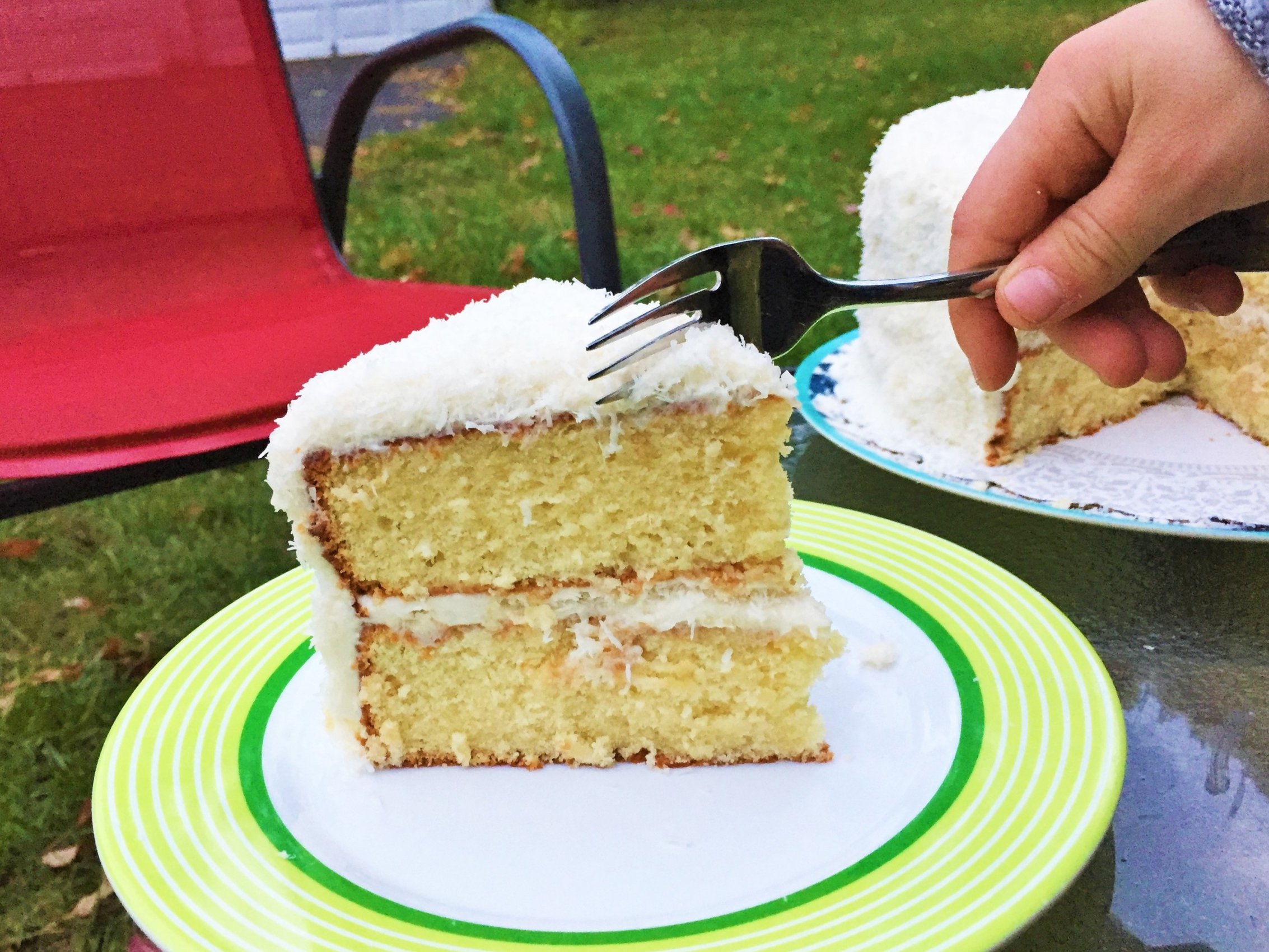 Coconut Cream Cake  made in the Adventure Kitchen, October 2015