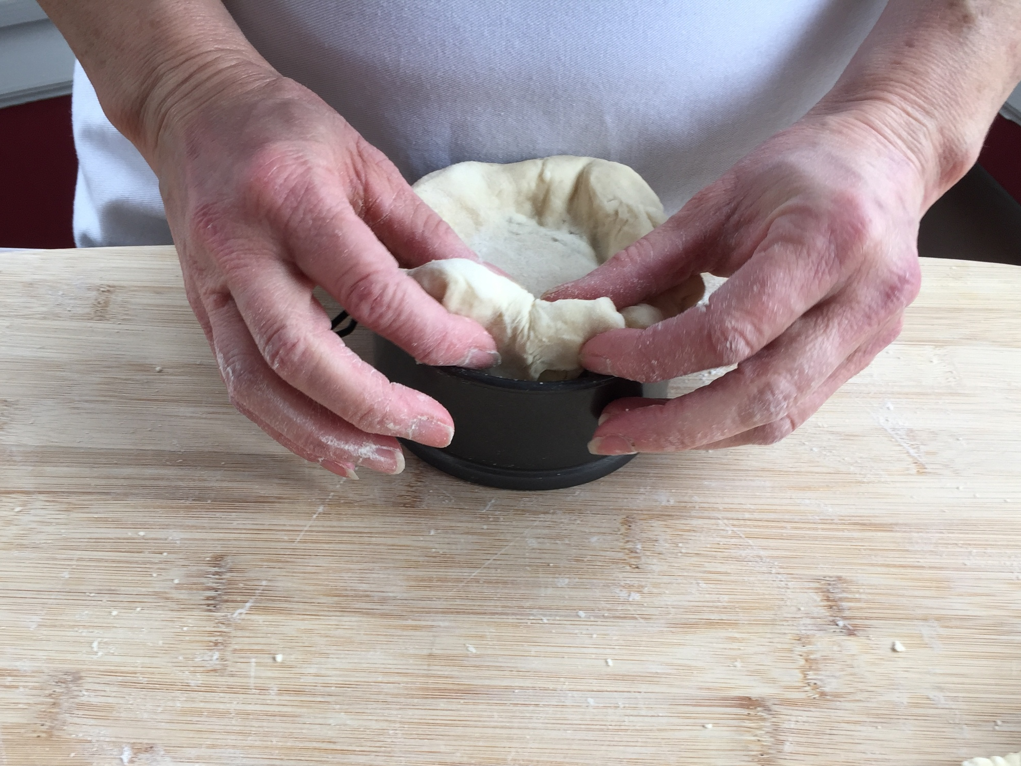 Rolling the edges under