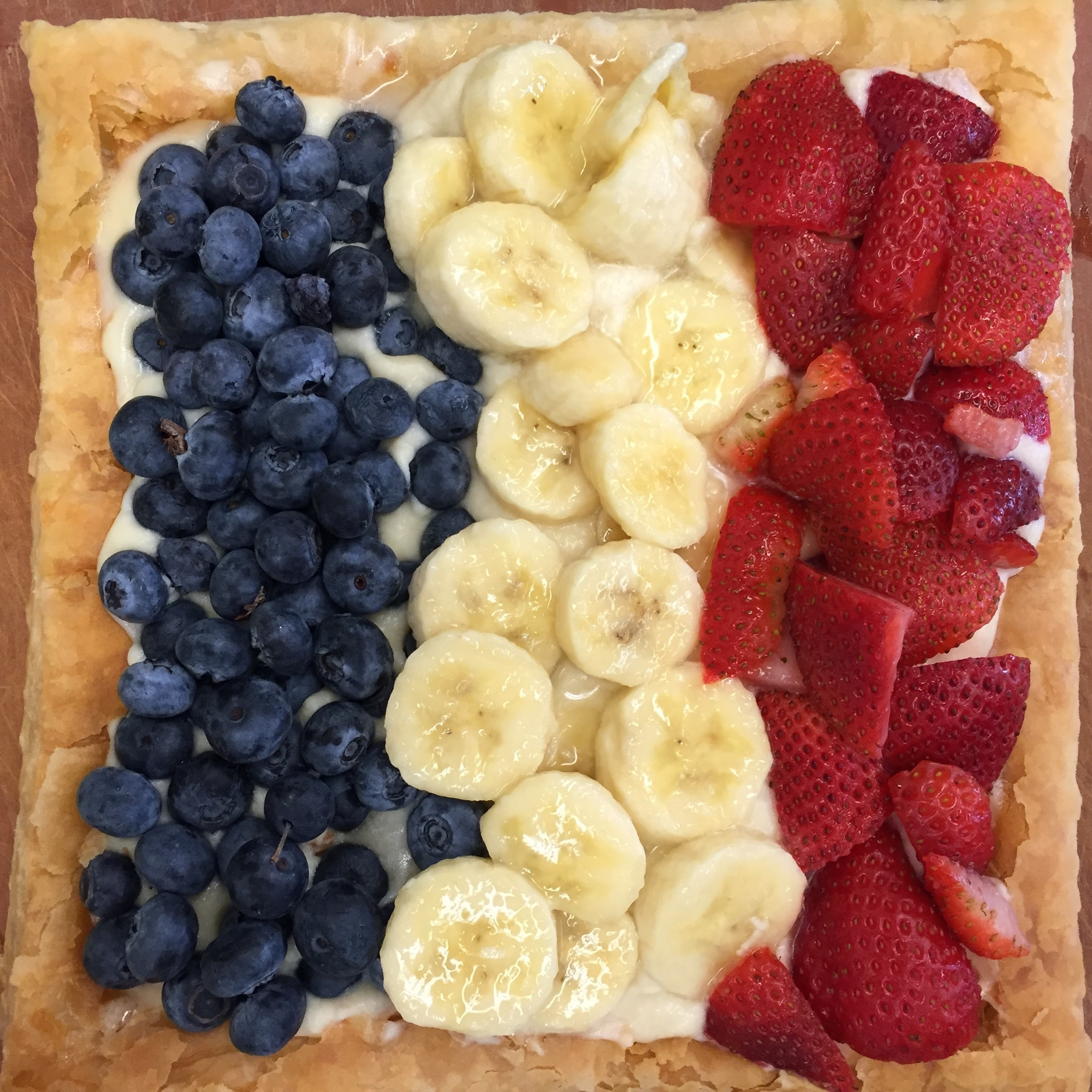 Easy Puff Pastry Tart  - we made this one in cooking class to resemble the French flag. Of course, you can use whatever fruits and berries you like, in any design you dream up!