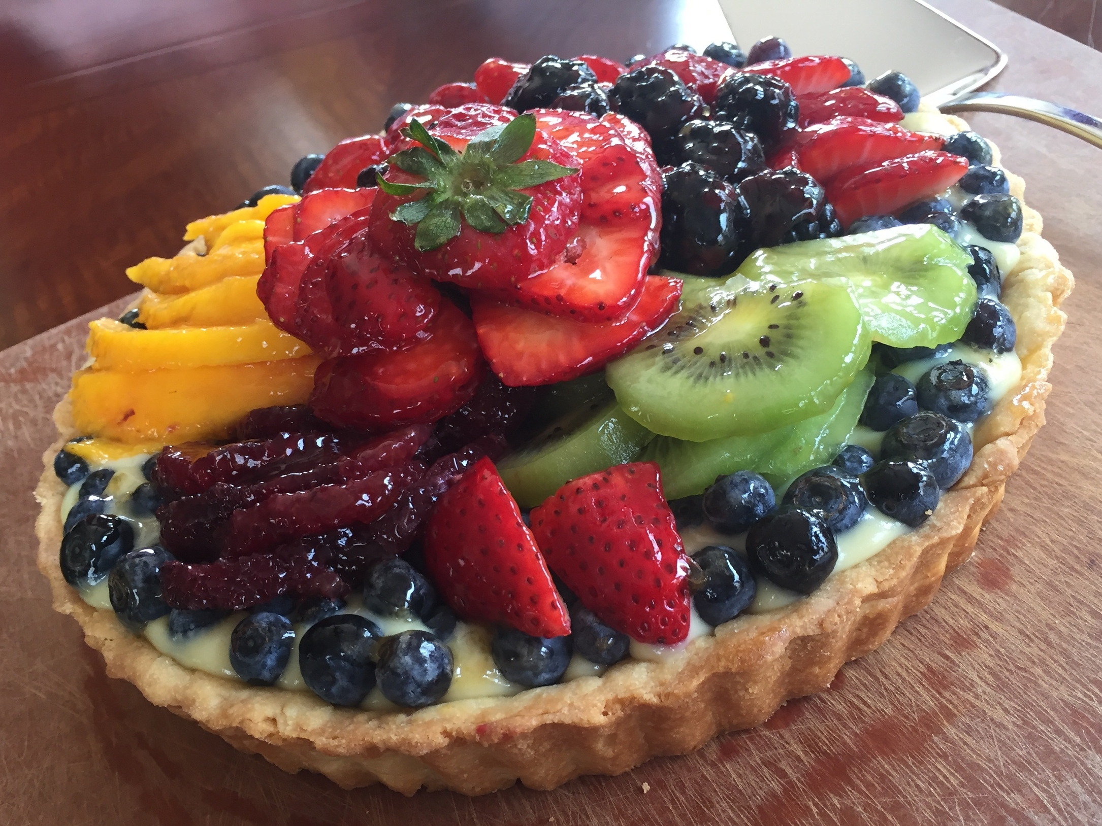 Classic Fresh Fruit Tart  made in the Adventure Kitchen.