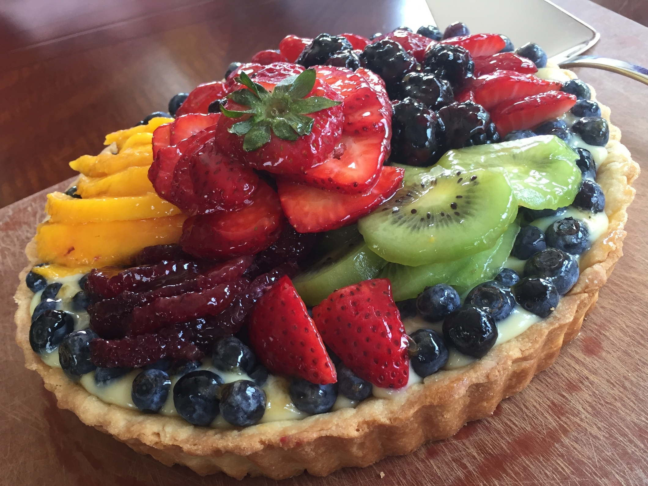 Classic French Fruit Tart  made in the Adventure Kitchen