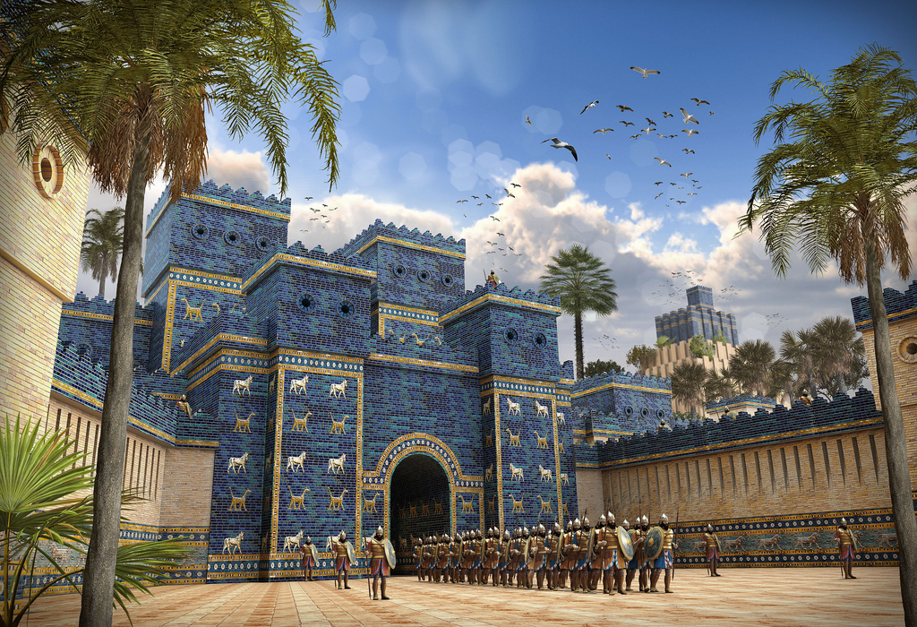 Soldiers at the Ishtar Gate of Babylon.