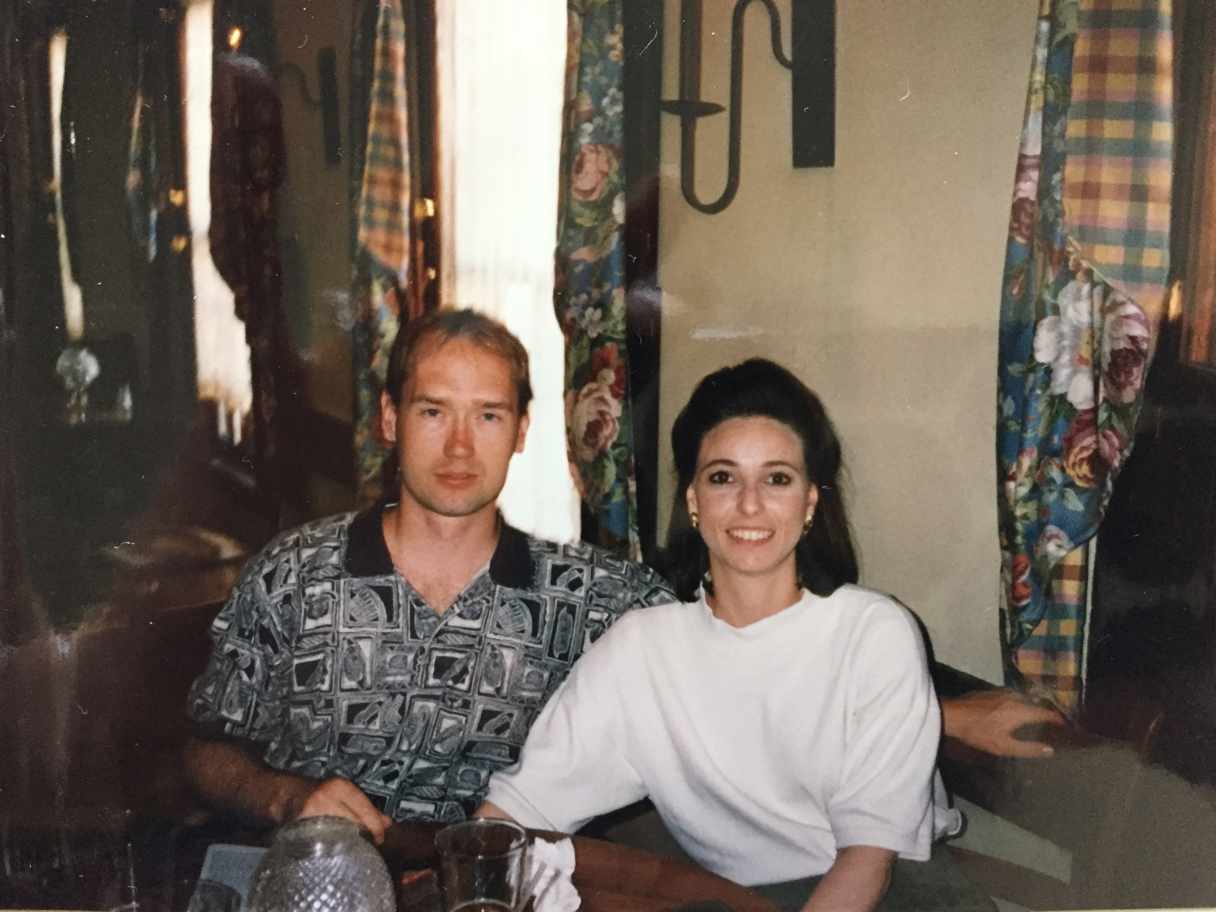 My then boyfriend (now husband) and me - not in Paris but in Boston, around the same time. Somehow, in the course of the nearly 20 years since that trip, between getting married, buying a house, having children and living life, the photos from our Paris trip have squirreled themselves away somewhere. C'est la vie!