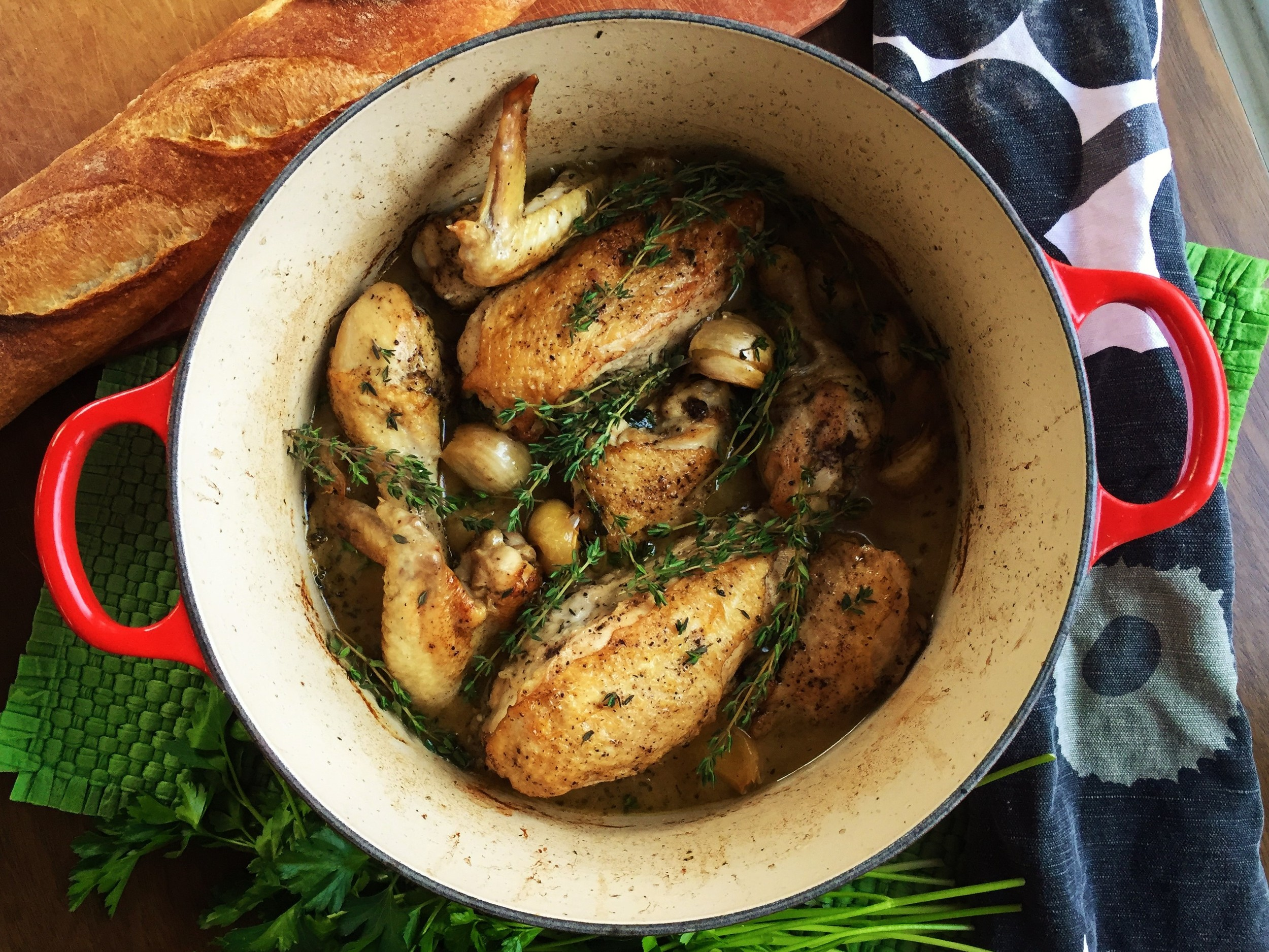 Our recipe this week -  Chicken with 40 Cloves of Garlic  - takes a quintessentially French approach to chicken. With astoundingly delicious results.