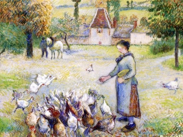 Pissaro - Woman Distributing Grain to the Chickens.jpg