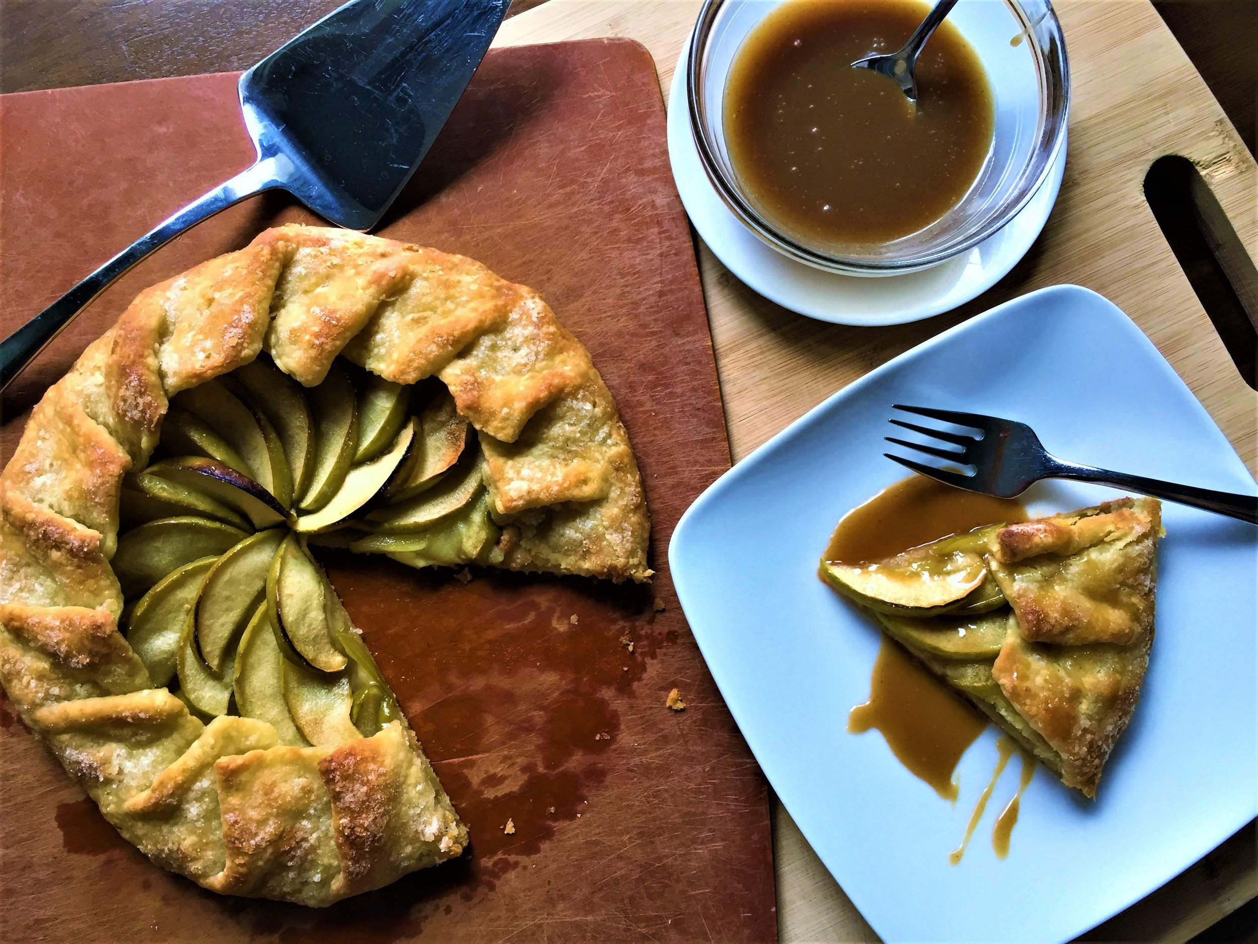 Apple Galette with Brown Butter Thyme Sauce