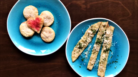 Pie Crust Cookies and Parmesan Savory Crisps
