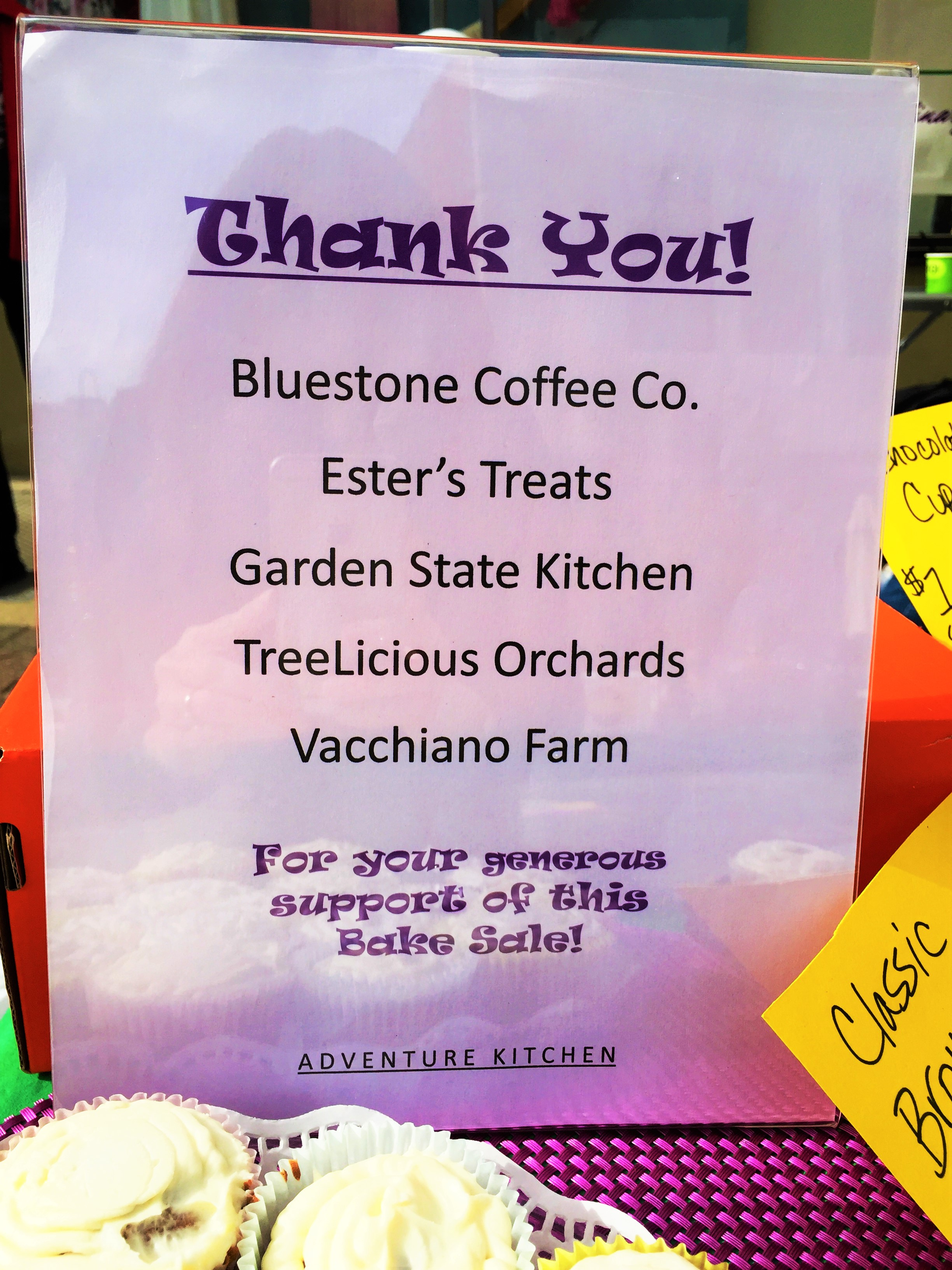 Thank you to the generous businesses who contributed some of the baked goods for this year's sale!