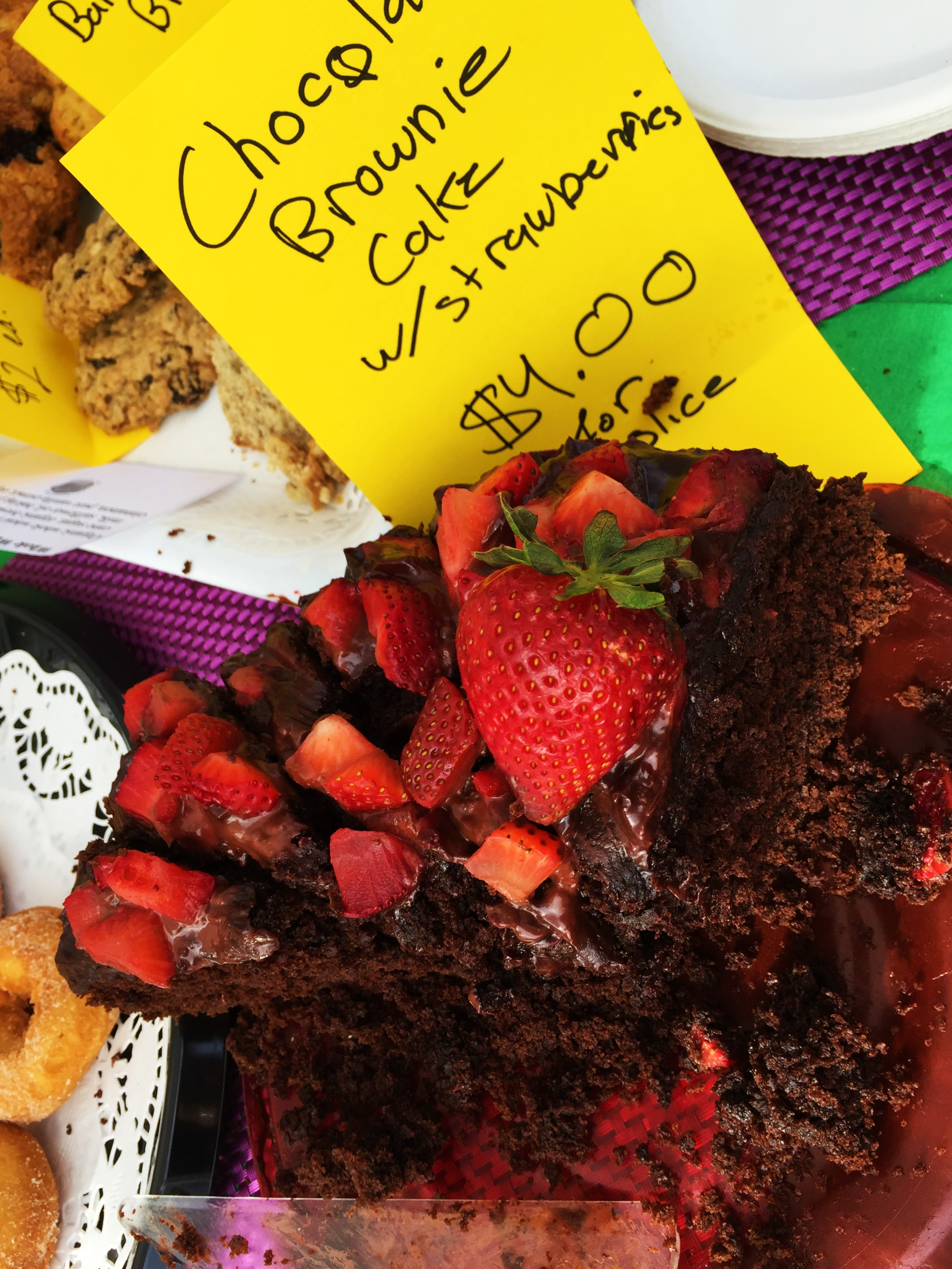 This delicious cake made by volunteer Nece went fast!