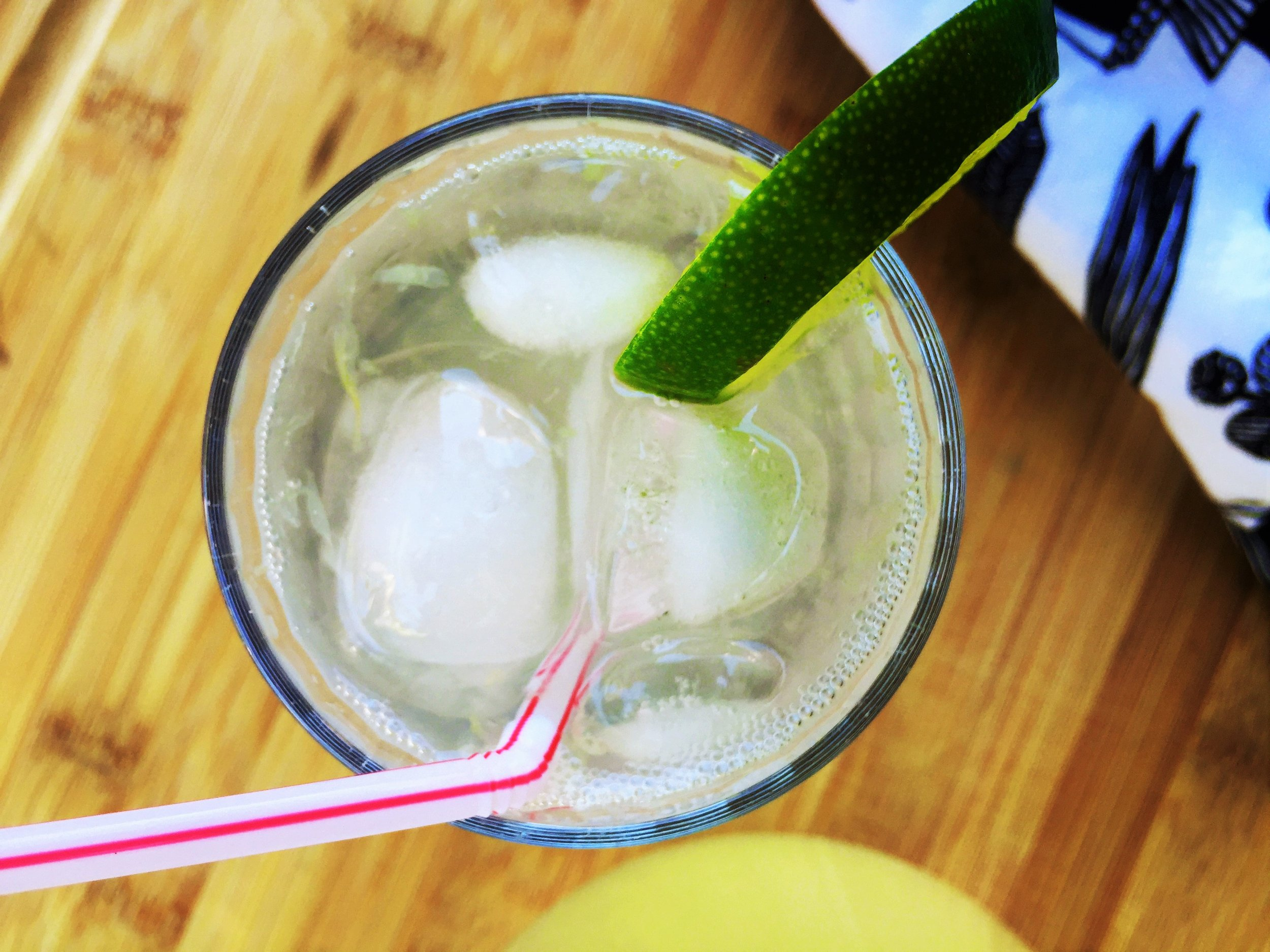 Fizzy Mint Limeade made in the Adventure Kitchen.