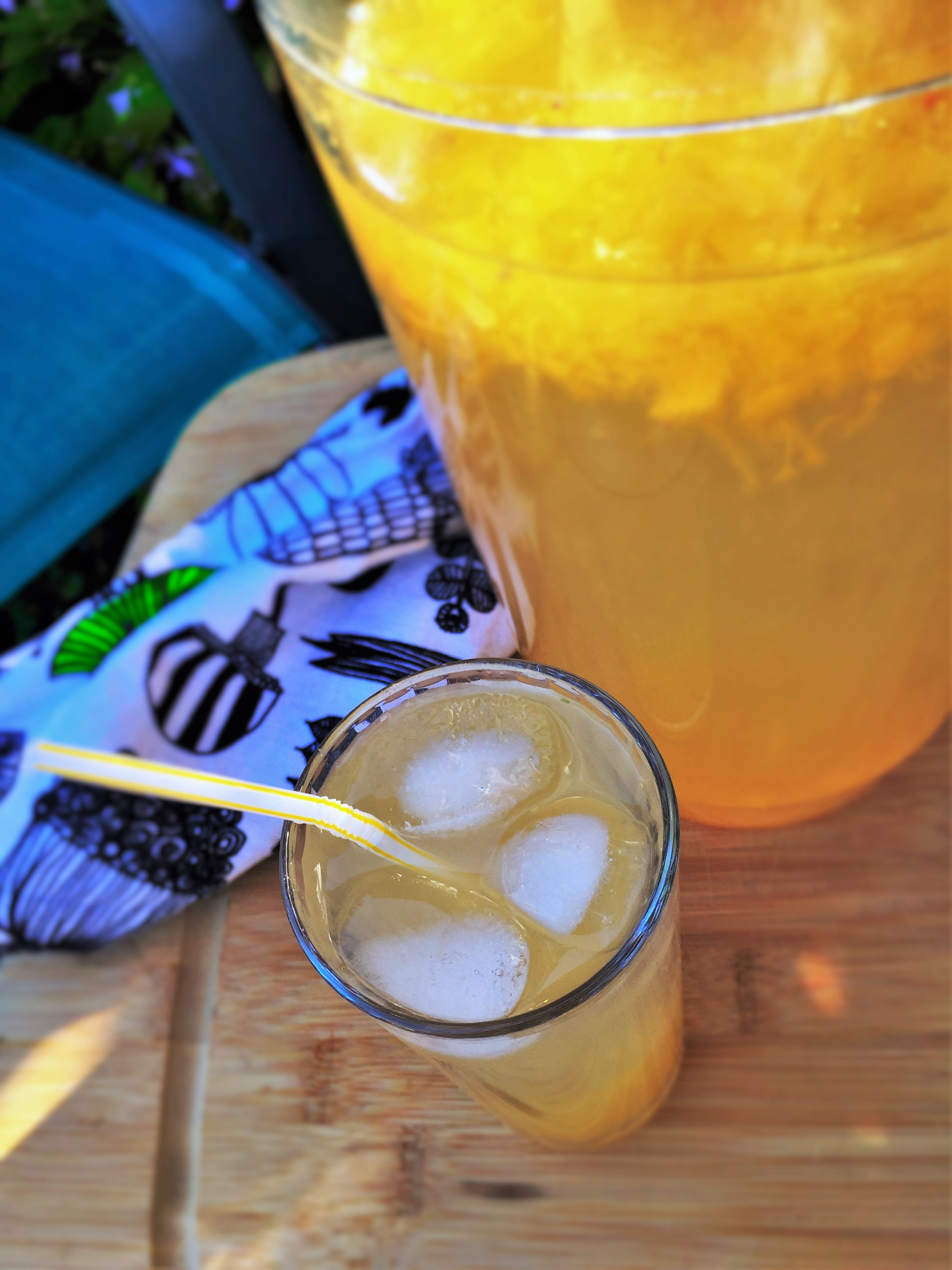 Summer-Thyme Lemonade made in the Adventure Kitchen.