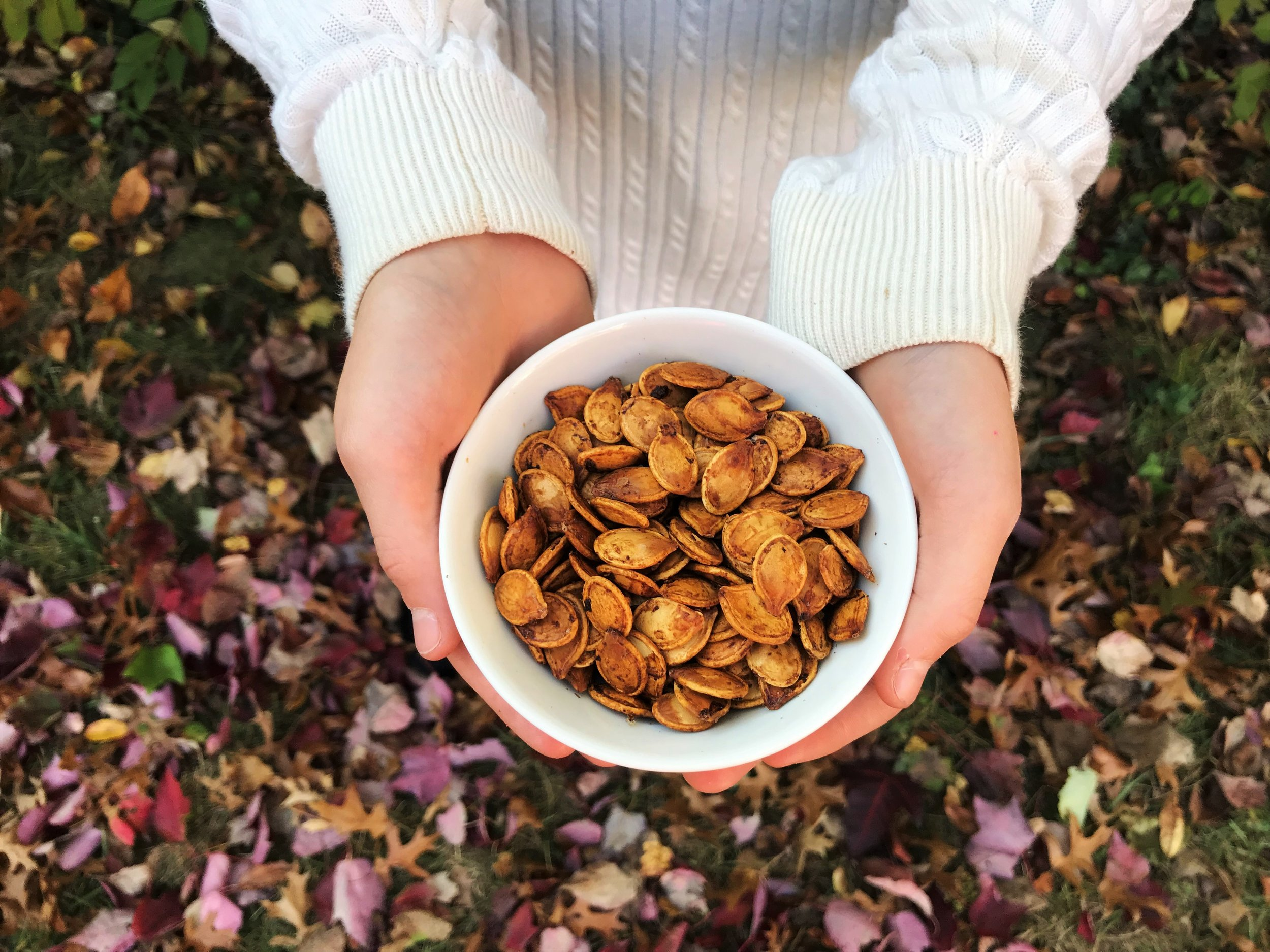 Roasted Pumpkin Seeds made in the Adventure Kitchen.