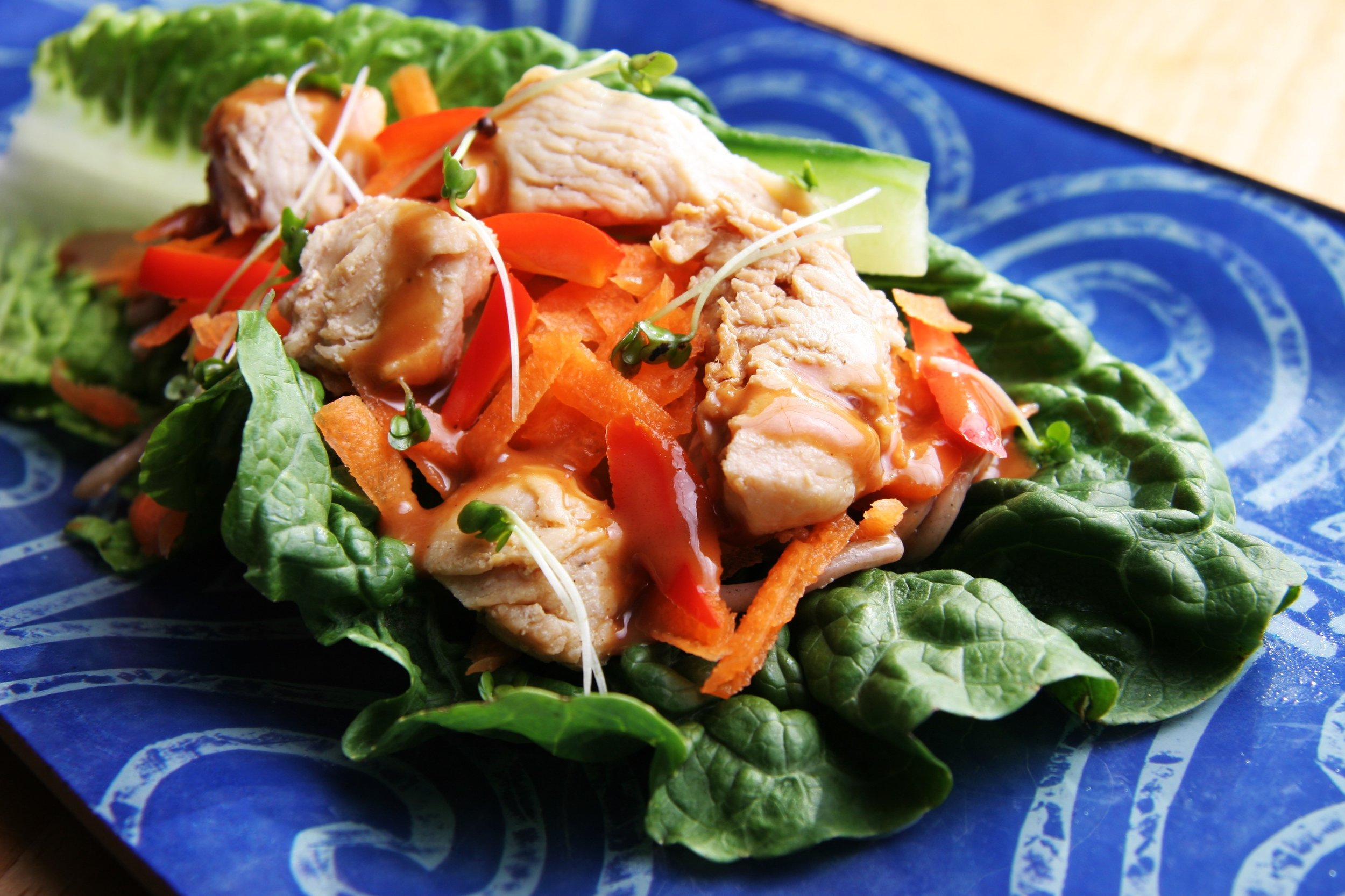 Chicken Lettuce Wraps  (photograph by Deborah Guzman-Meyer)