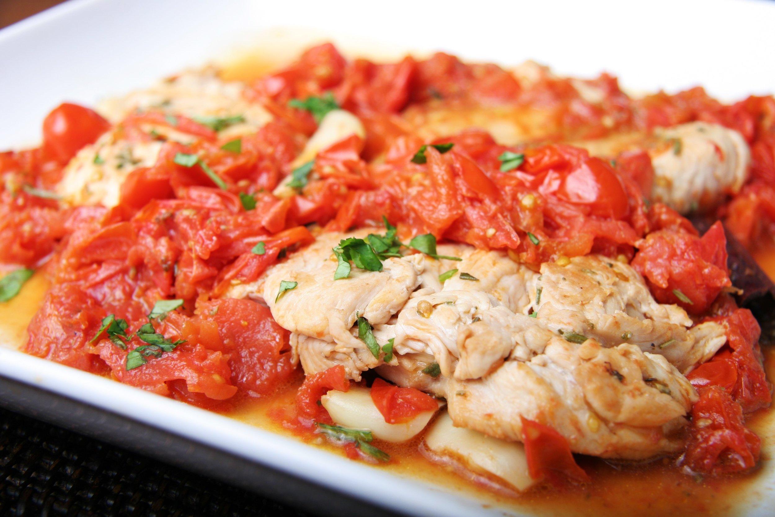 Chicken Sabate  (photograph by Deborah Guzman-Meyer)