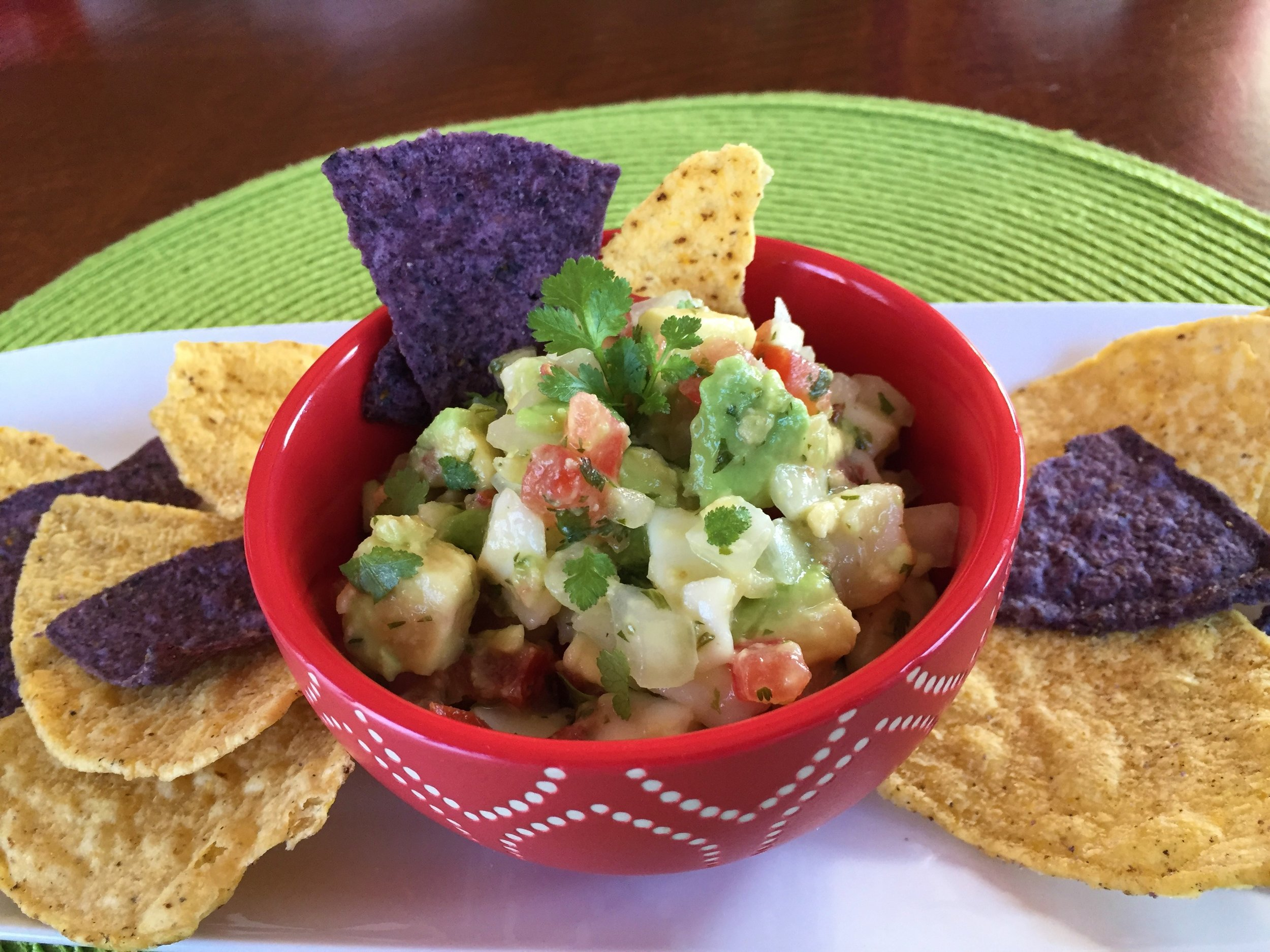 Ceviche, made in the Adventure Kitchen.