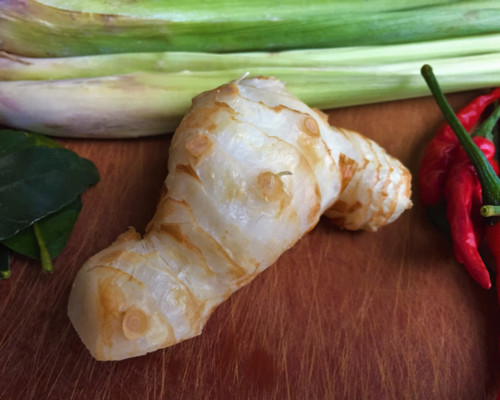 Galangal - looks like ginger, but has a somewhat sweeter taste