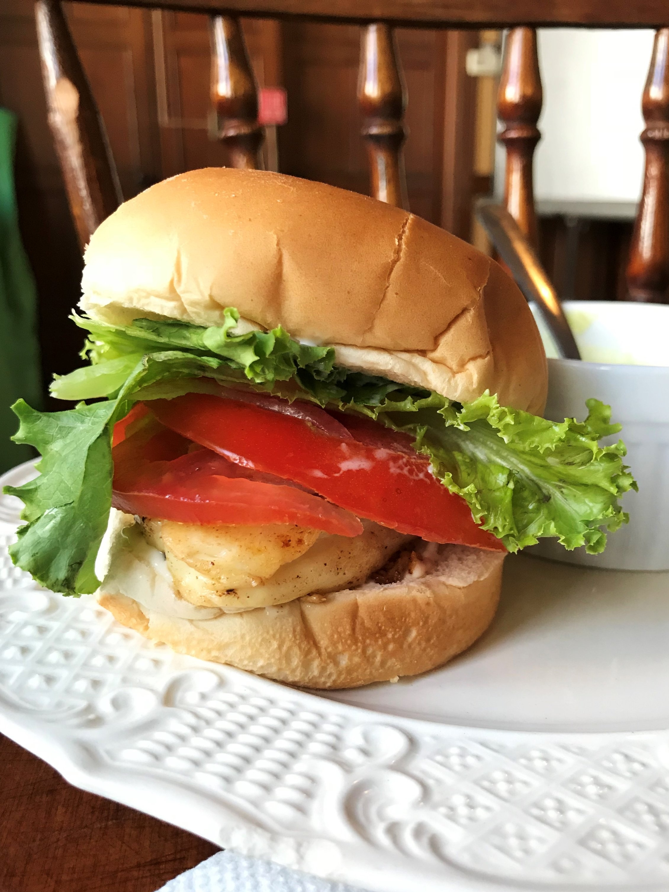 """This is a Halloumi Cheese """"Burger"""" we made in Adventure Kitchen summer camp. It's the perfect vegetarian burger!"""