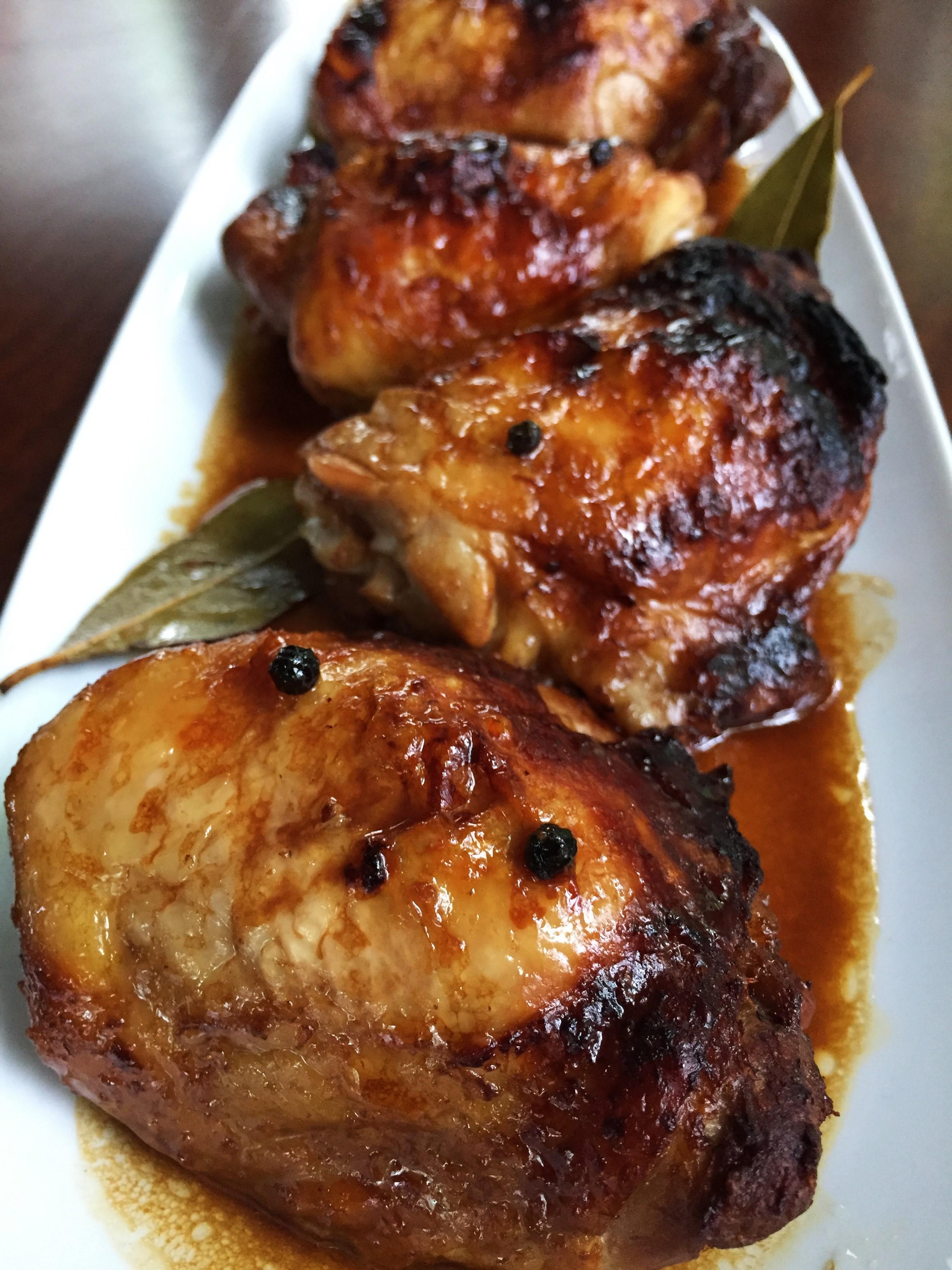 Chicken Adobo made in the Adventure Kitchen