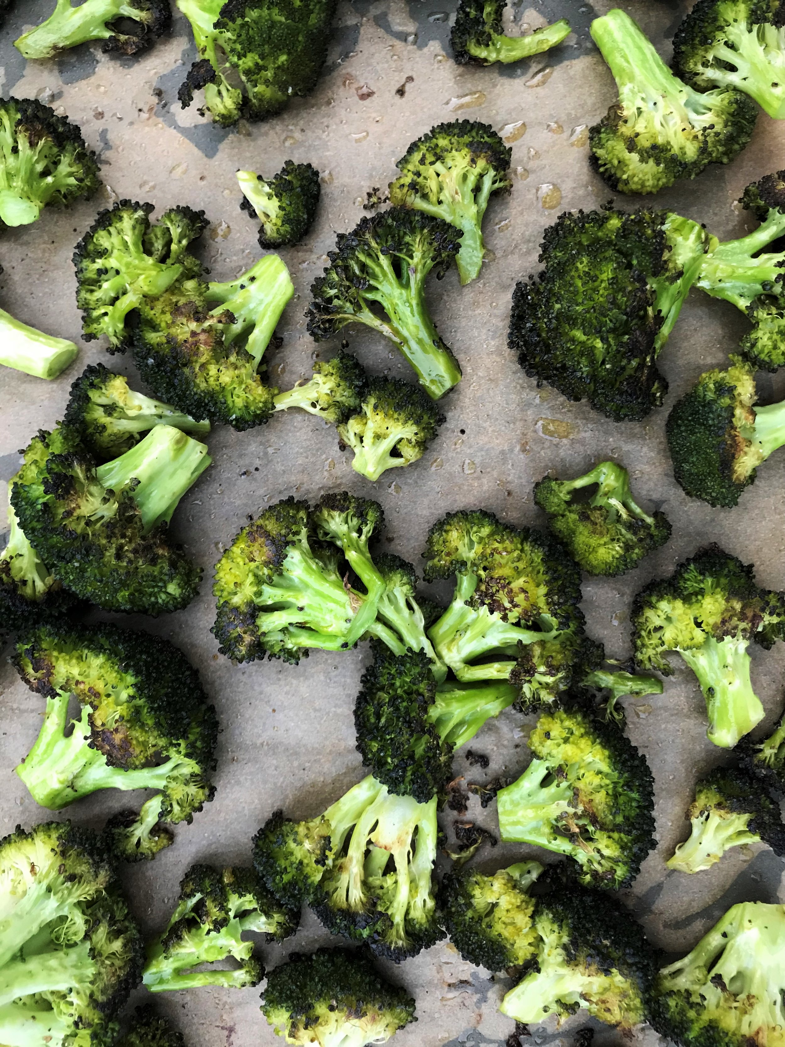 Simple Roasted Broccoli made in the Adventure Kitchen.