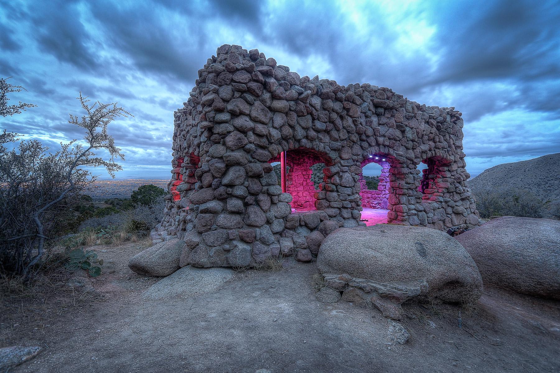 Albuquerque Sandia Mountains Lighting