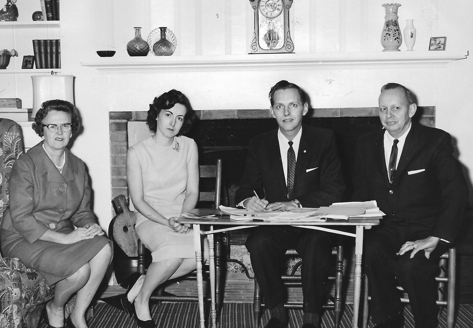 Lucile Conrad, Pat Krause, Al Sieczkowski and John Amstutz