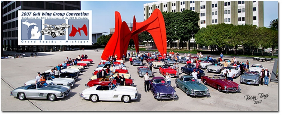Cars on Calder Plaza