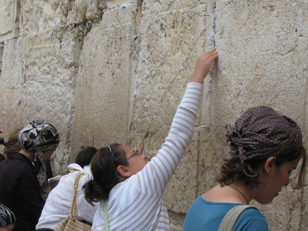The tradition of placing notes in the Western Wall