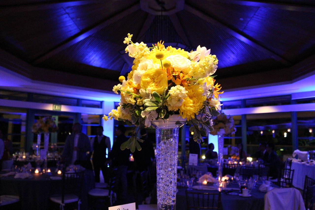 Centerpiece Pinspots - One of our favorites. Florists work tremendously hard picking that right petal to perfectly complete the arrangement. Why not bring that hard work and most importantly beauty to life with Ensemble Events Pinspots. We'll work together to figure out how many and where to place them for ultimate....