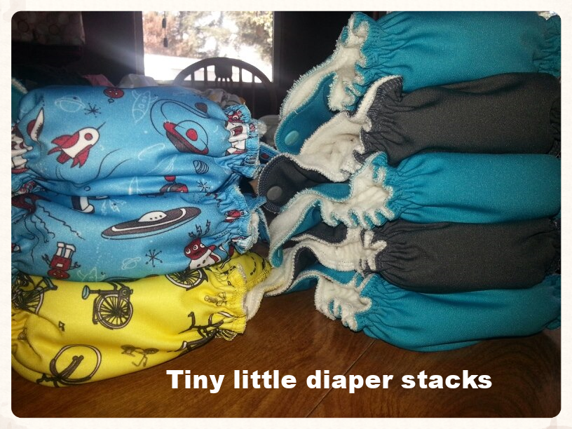 Tiny liittle diaper stacks
