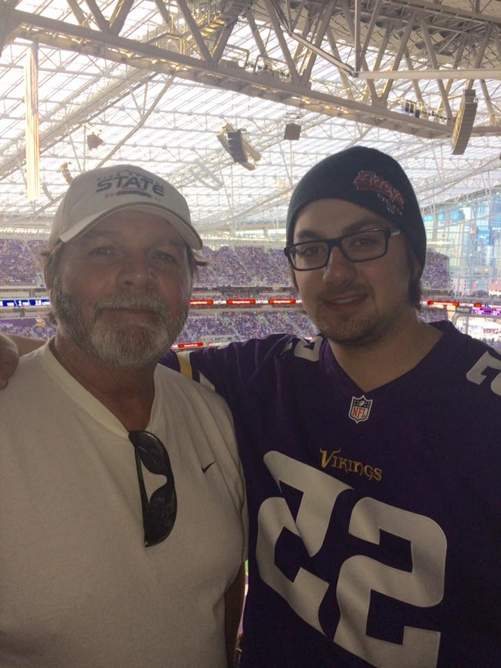 Dad and I at a Vikings game
