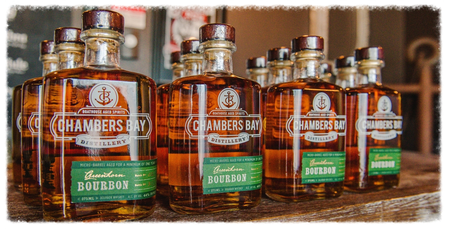 Greenhorn Bourbon — Chambers Bay Distillery — Land Crafted, Ocean on