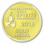 2016  San Francis co World  Spirits Competition  Gold Medal - Craft Whiskey