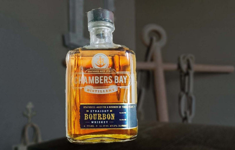 Chambers Bay Straight Bourbon Whiskey - Boathouse-Aged a Minimum of 3 years